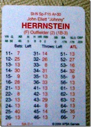 65 Johnny Herrnstein