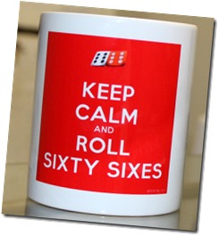 Keep Calm and roll 66s mug