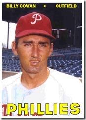 Phillies Billy Cowan 67T