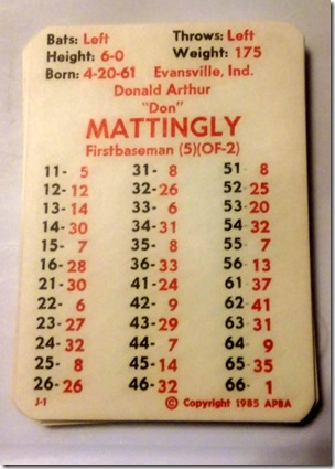 Don mattingly 84